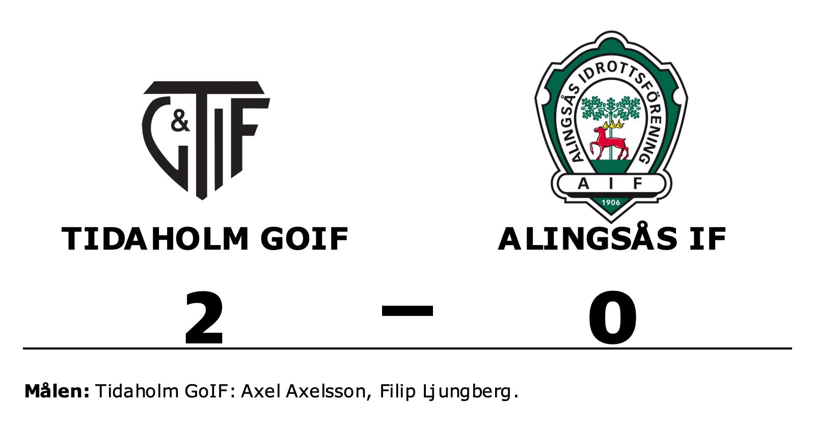 Axel Axelsson och Filip Ljungberg matchvinnare när Tidaholm GoIF vann mot Alingsås IF