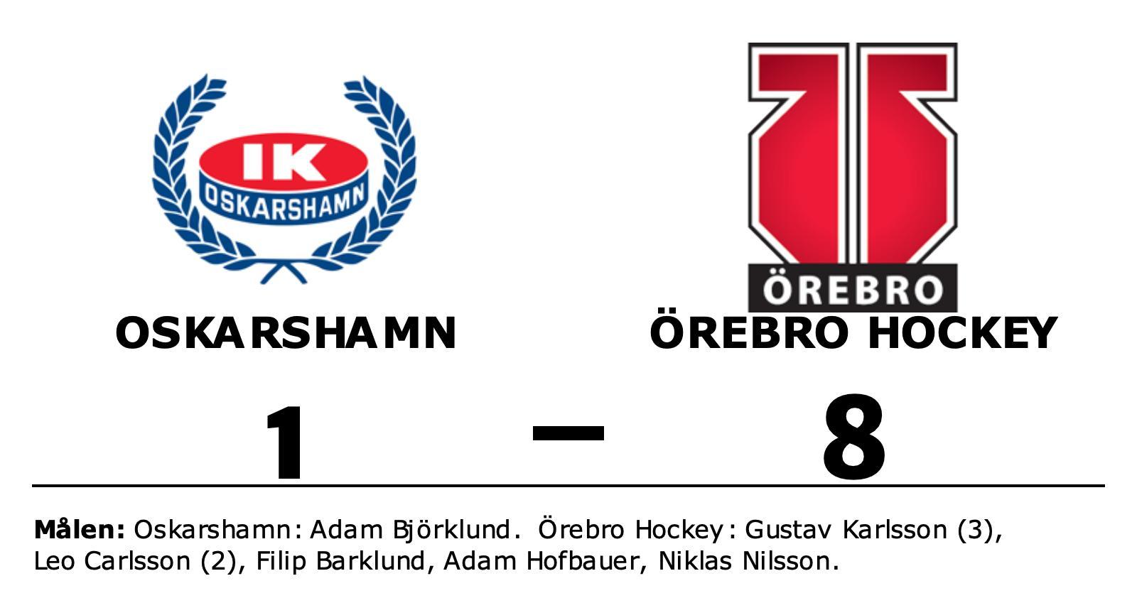 Målfest för Örebro Hockey borta mot Oskarshamn