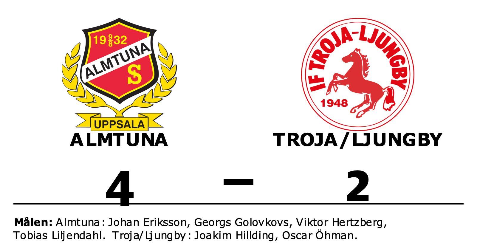 Almtuna slog Troja/Ljungby på hemmaplan