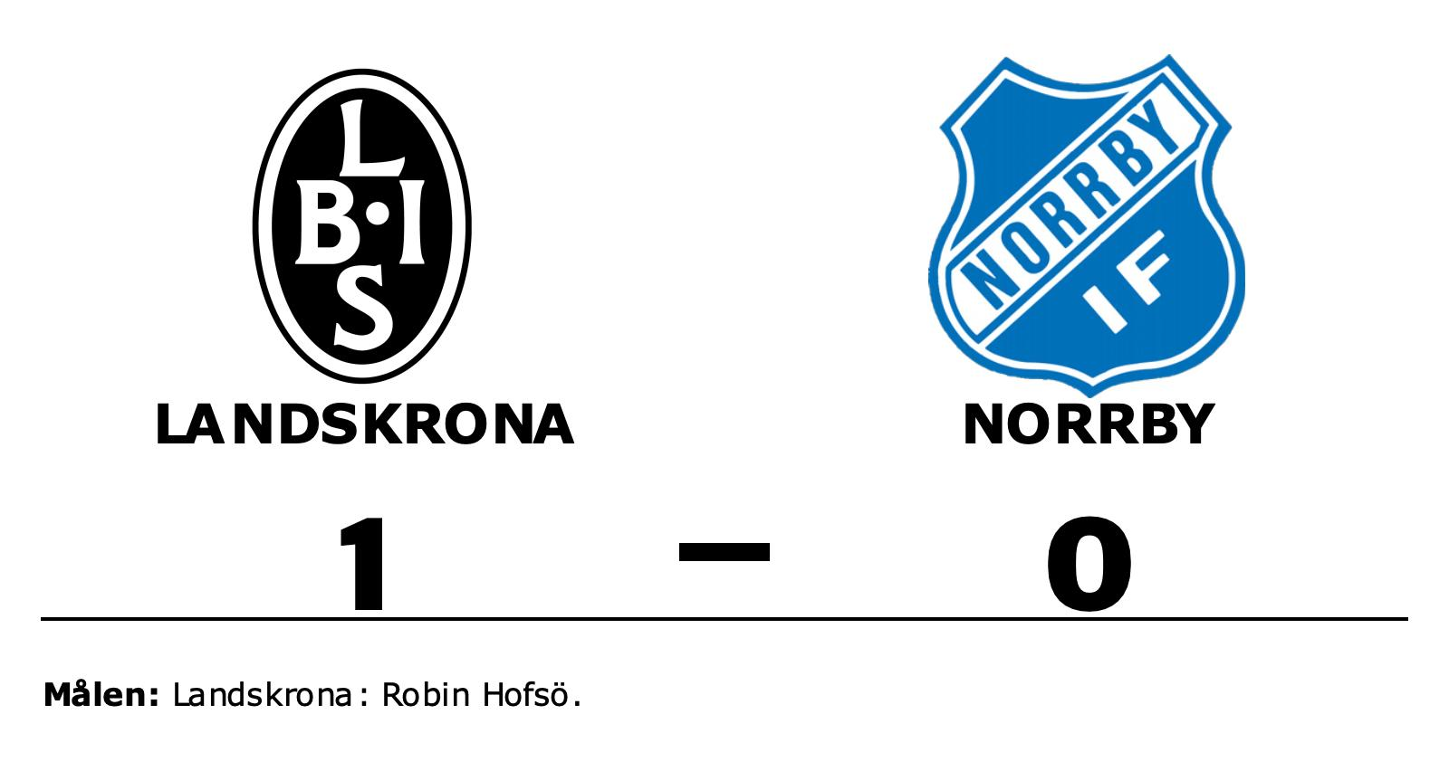 1–0-seger för Landskrona mot Norrby – Robin Hofsö matchhjälte
