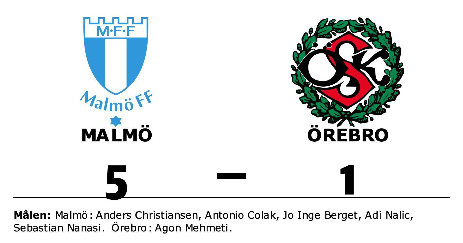 Malmö segrade mot Örebro på hemmaplan