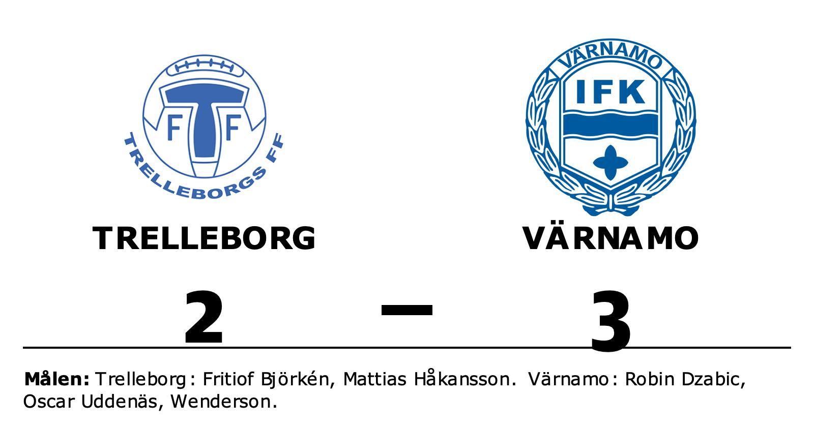 Värnamo vann på bortaplan mot Trelleborg
