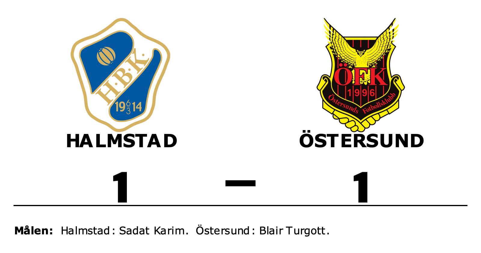Halmstad och Östersund delade på poängen efter 1-1