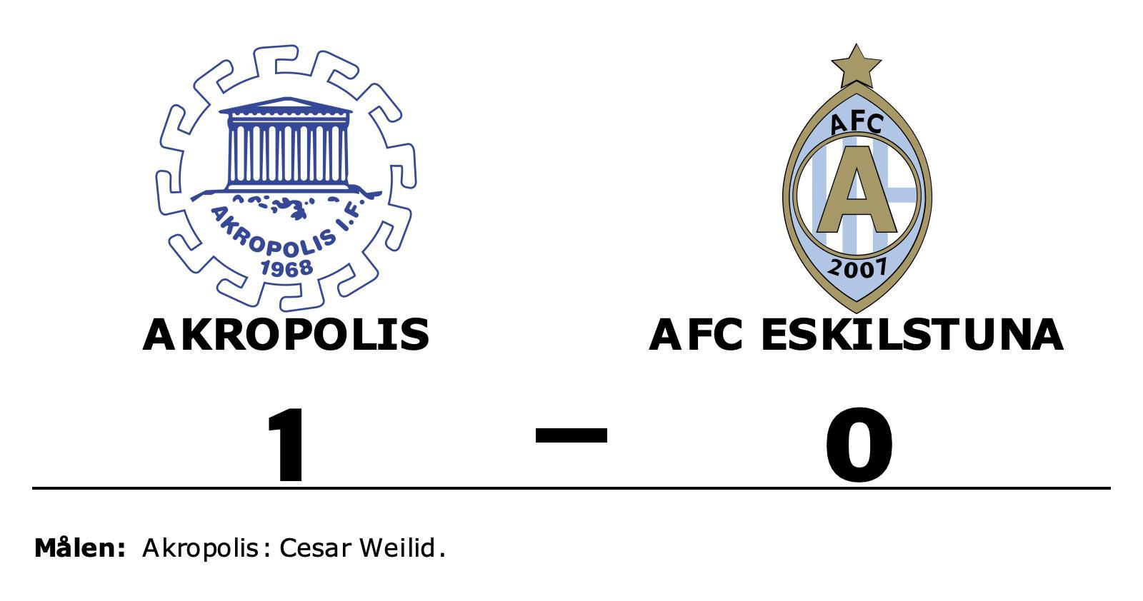 Cesar Weilid matchhjälte för Akropolis hemma mot AFC Eskilstuna