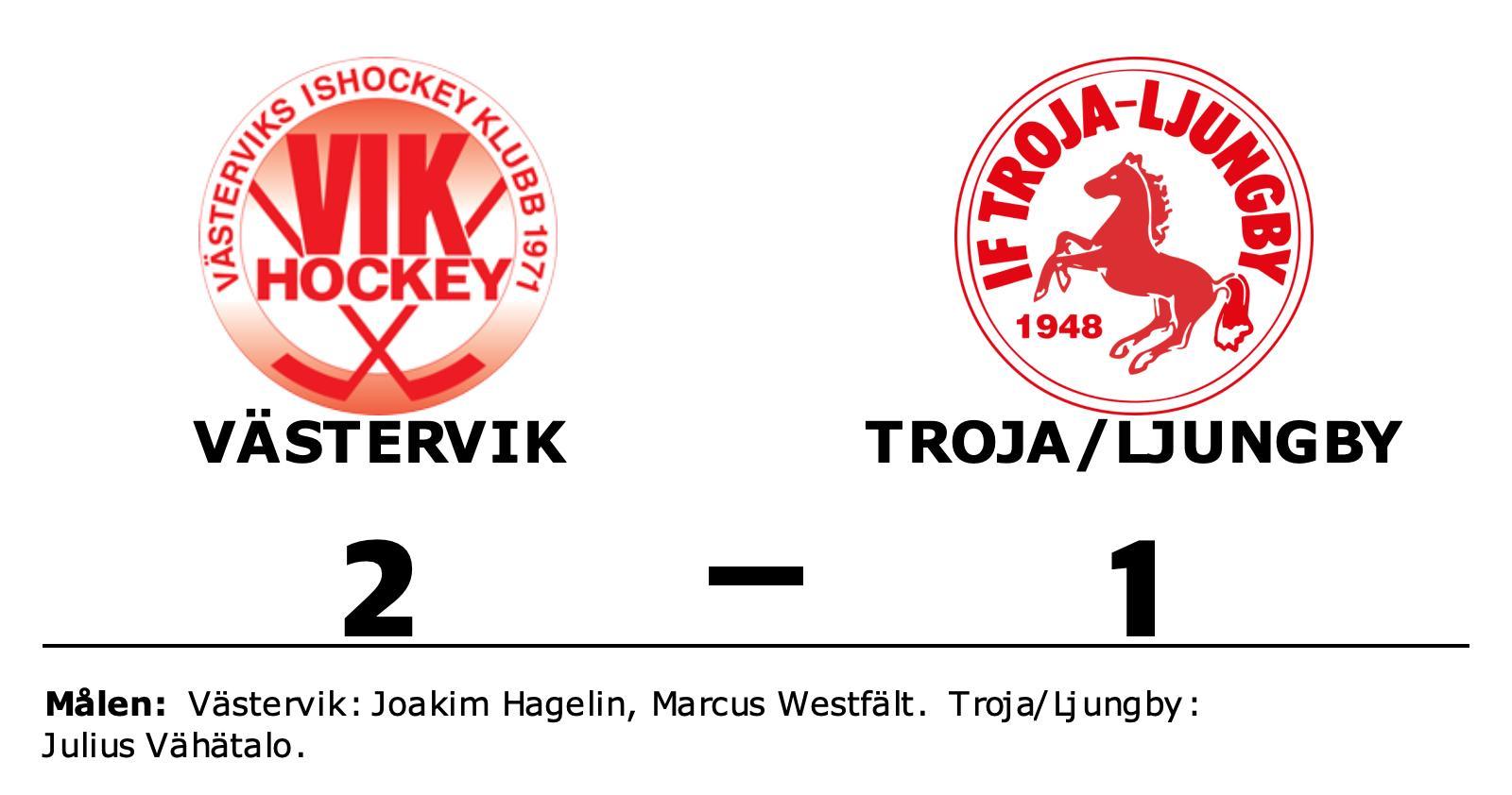 Joakim Hagelin och Marcus Westfält matchvinnare hemma mot Troja/Ljungby
