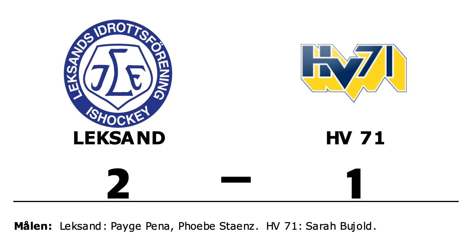 Tre poäng till Leksand efter avgörande i slutperioden mot HV 71