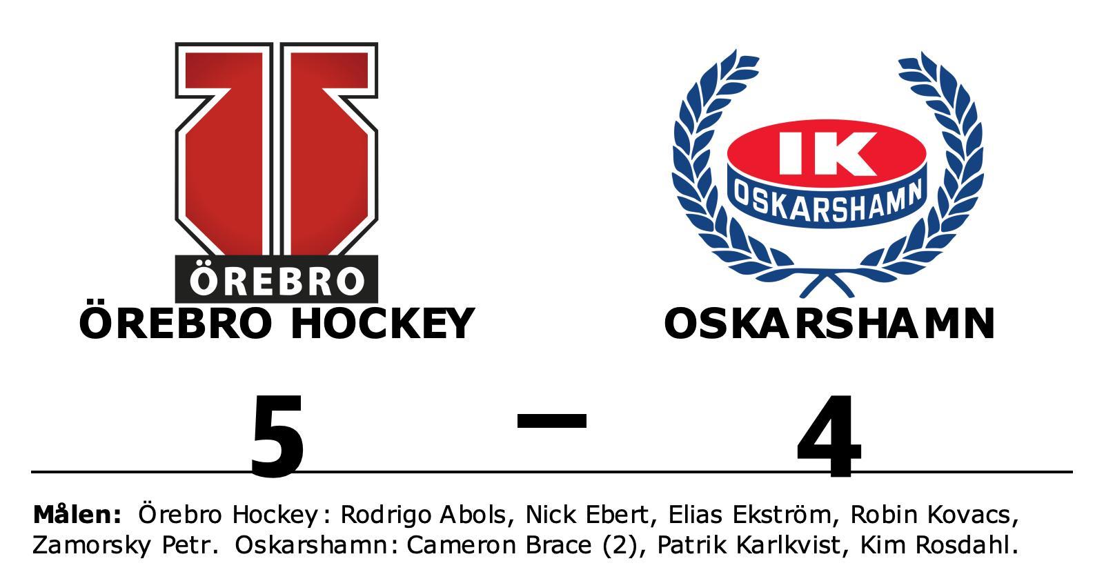 Straffar avgjorde för Örebro Hockey i hemmasegern mot Oskarshamn