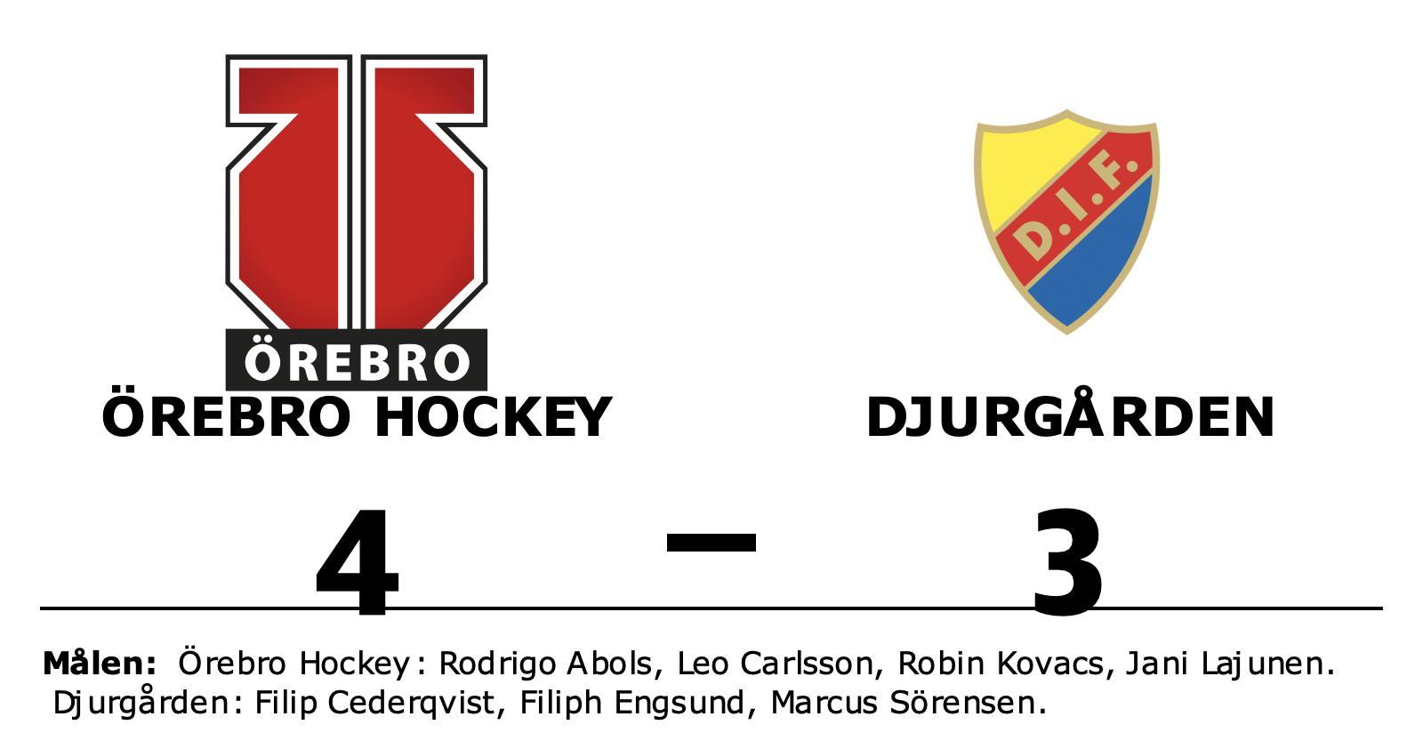 Seger för Örebro Hockey efter avgörande i förlängningen mot Djurgården