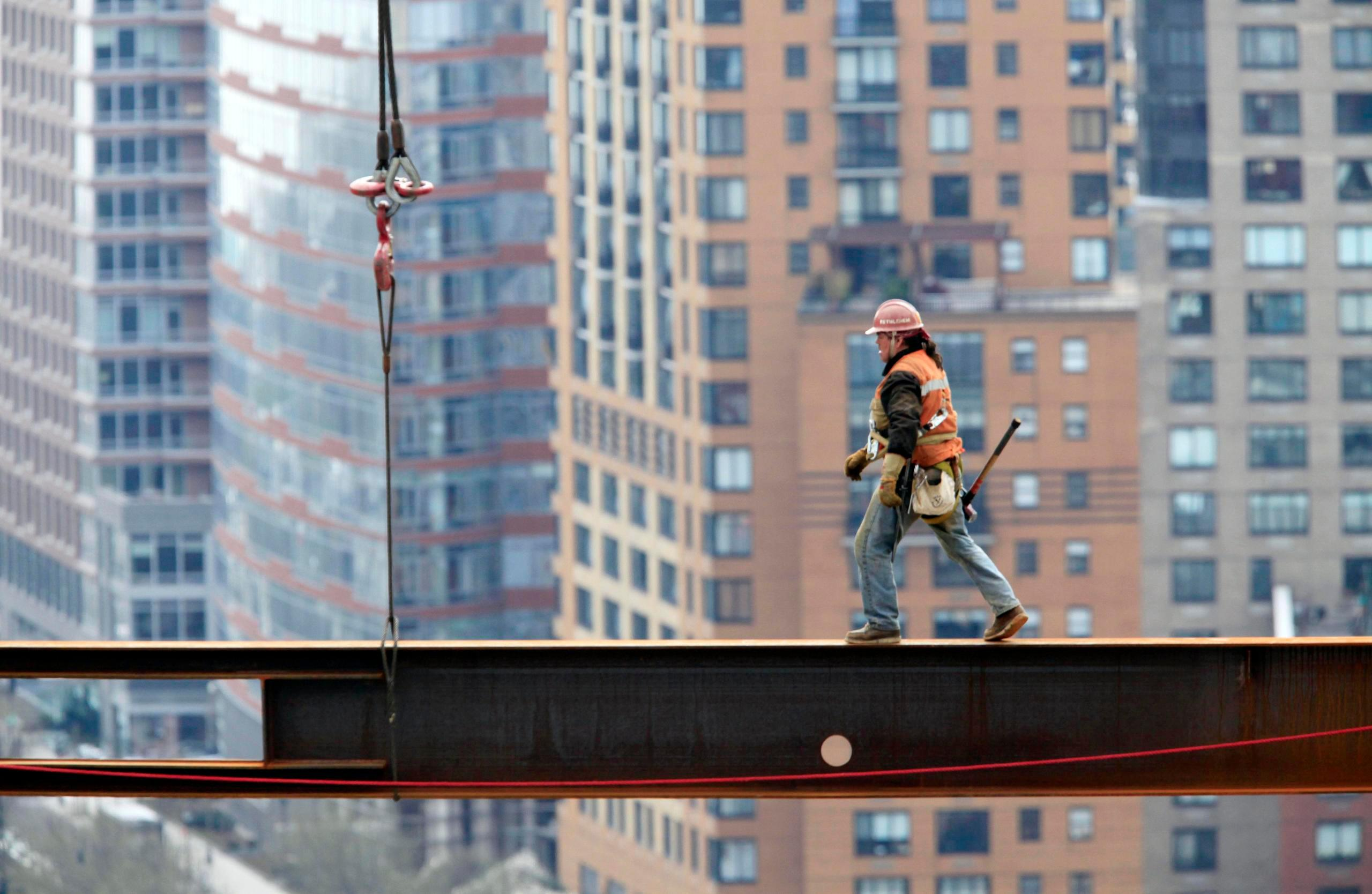 Construction Workers (Photography) Posters for sale at m Ironworkers on beam photo