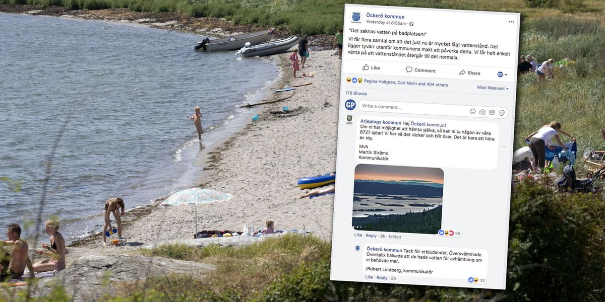 Badgäster ringde kommunen: för lite vatten i havet