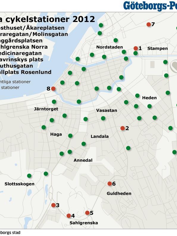 Heden Goteborg Karta.Vasttrafik Forvanas Over Cykelsamarbete Goteborgs Posten Goteborg
